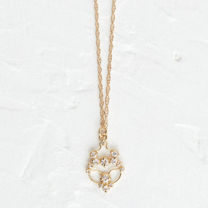 Diamond Contour Necklace