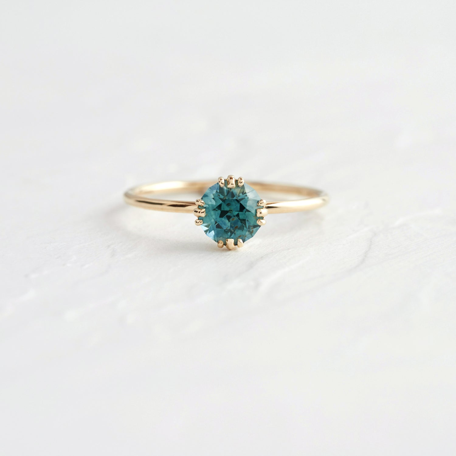 Bright Blue Montana Sapphire Unveiled Ring