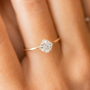Unveiled Ring with Halo, 0.6ct. Round Diamond