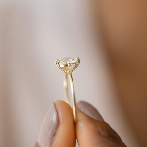 Unveiled Ring, 0.90ct. Oval Cut Diamond