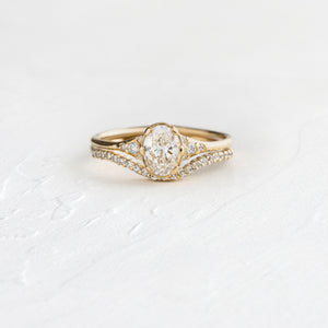 Fitted Band for .5ct. Oval Lady's Slipper Ring