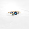Blue Sapphire Indie Ring in 14k yellow gold