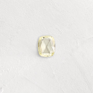 Choose Your Design - 2ct. Cushion Rose Cut Diamond, Pale Yellow, Custom SKU 10508