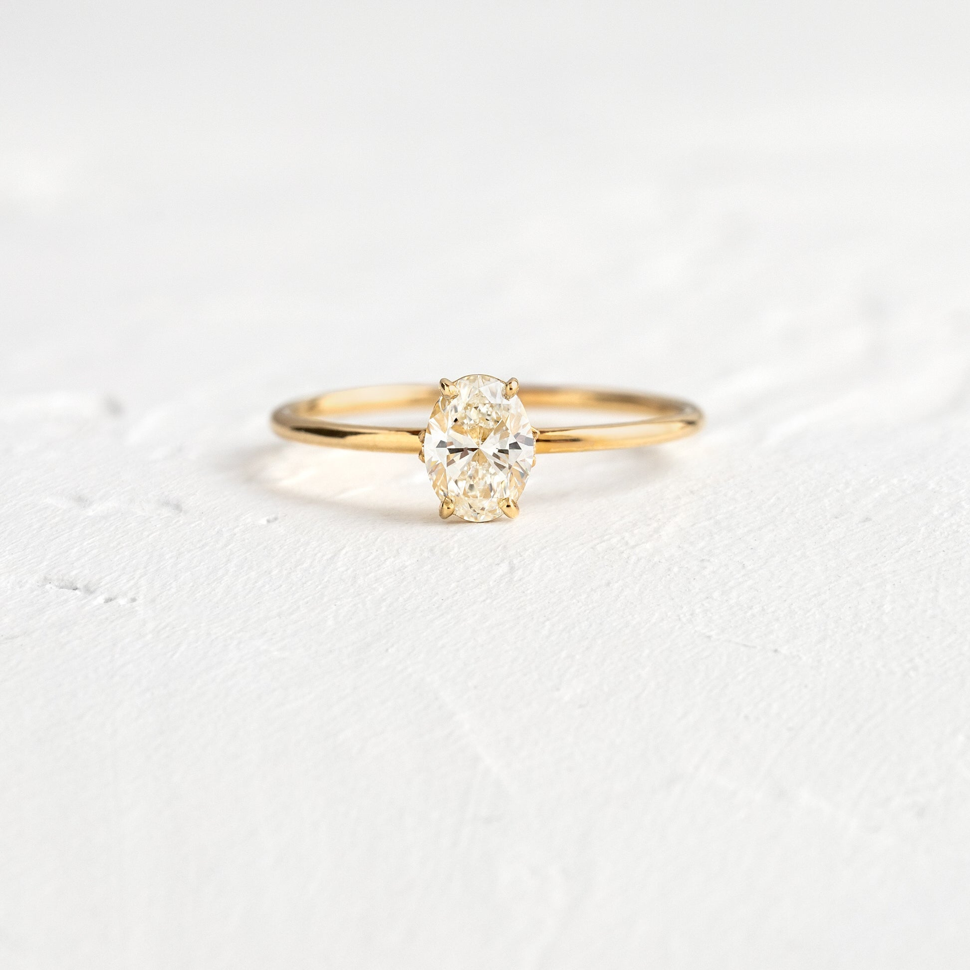 Unveiled Ring, 0.5ct. Oval Cut Diamond, Diamond Accents