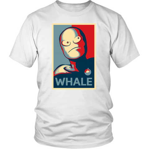 Ghastly WHALE Obama Propaganda Shirt