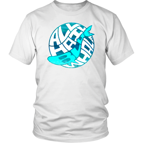 All Hail Blue Whale (Globe Logo) T-shirt