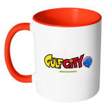 Gulf City DRAGONBALL Z logo COLORED Accent Mugs