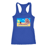 MINA HARPER Sun's Out Buns Out RACERBACK TANK for broads!