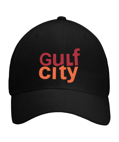 "GULF CITY ""Gulf Notice"" logo baseball cap! Curved Bill Velcro Strap"