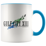 GULF CITY XIII LOGO COLORED ACCENT MUG