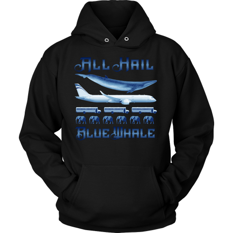 ALL HAIL BLUE WHALE TO SCALE HOODIE!