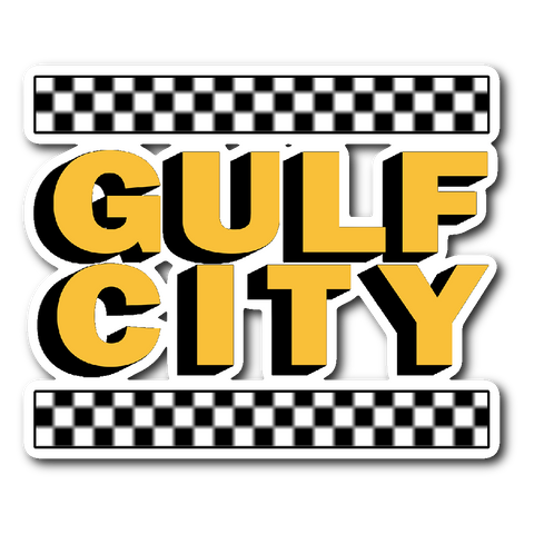 Gulf City Taxi Logo Sticker