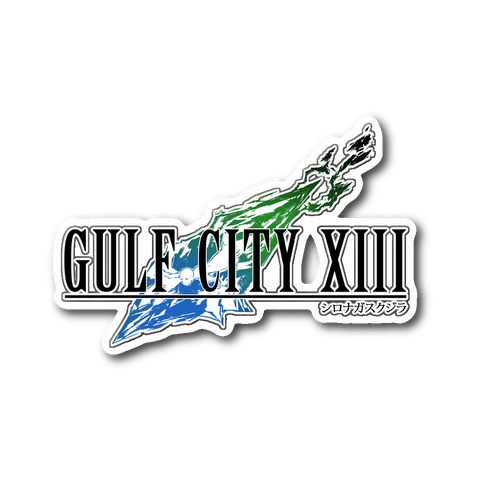 Gulf City XIII Final Fantasy VII Logo Sticker