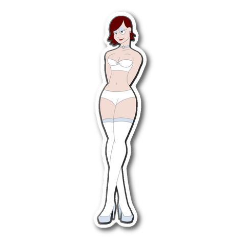 Mina in Lingerie STICKER
