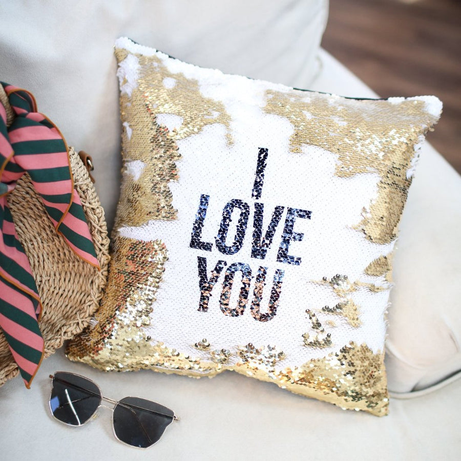 I Love You Pillow Cover