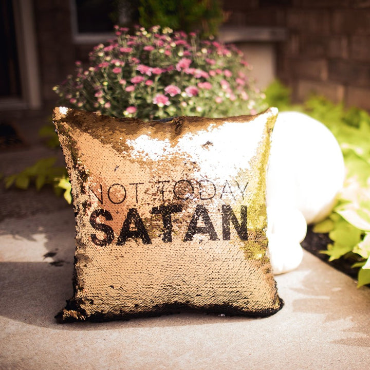 Not Today Satan Pillow Cover