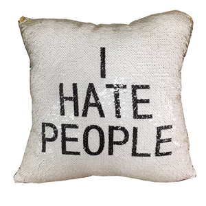 I hate people reveal cushion with insert