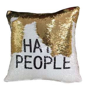 i hate people swear word pillow