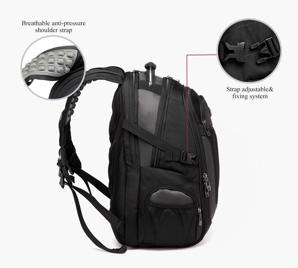 comfortable shoulder straps of backpack