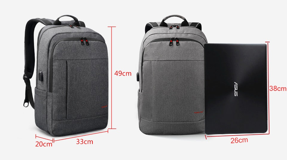 size of business laptop backpack with charger