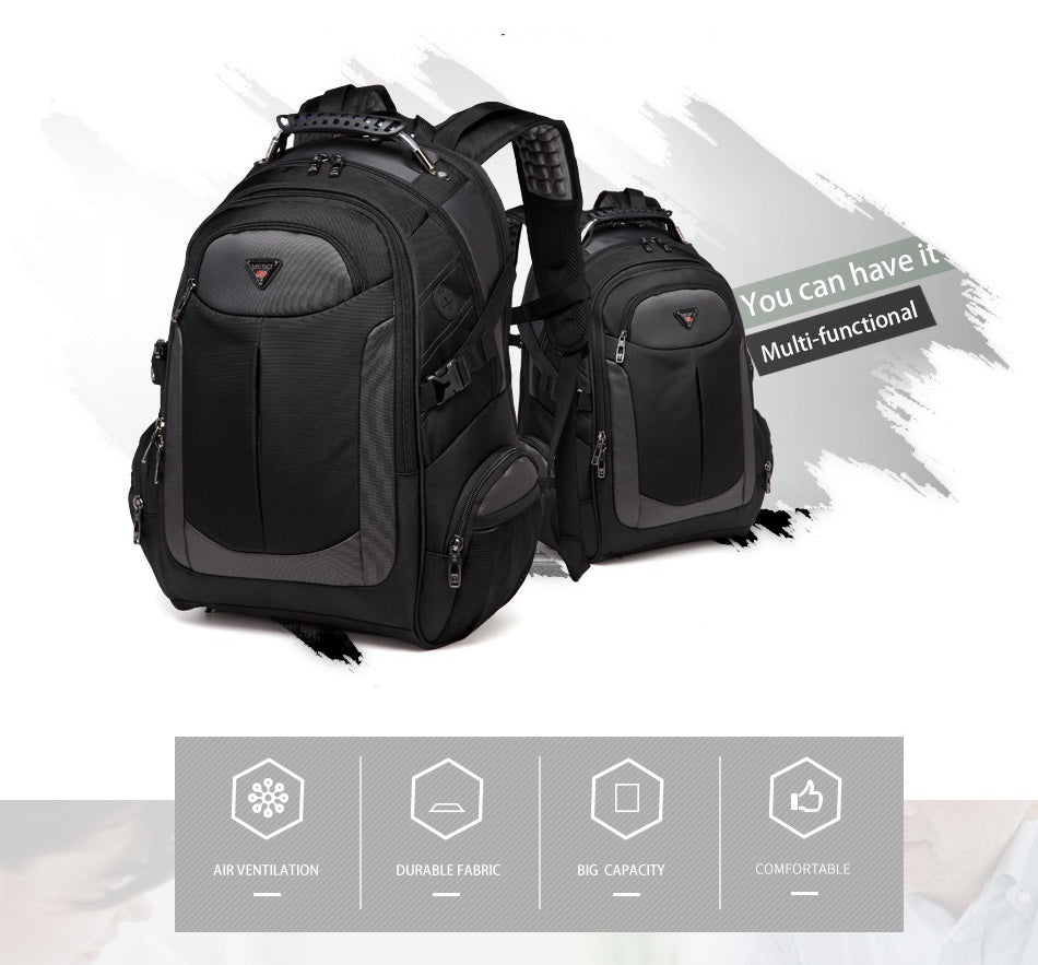 features off large travel backpack