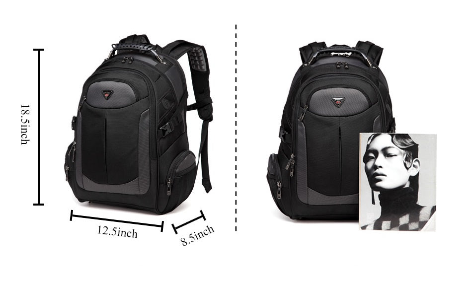 dimensions of large travel backpack