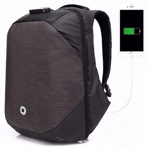 Password Lock Laptop Backpack for Men 16