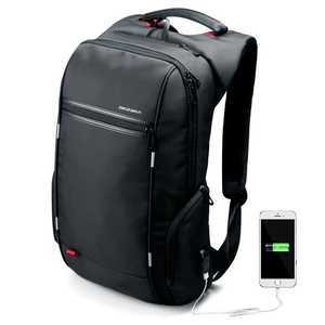 backpack for working professionals connected to phone via USB