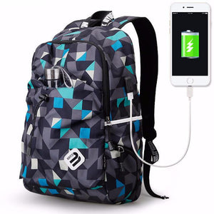 ability of a backpack to charge phone through USB port