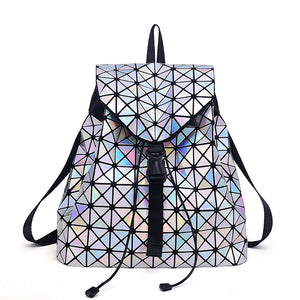 holographic backpack purse for women - front view
