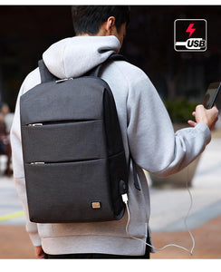 Casual Style Padded Backpack 15.6 | USB, Waterproof & Luggage Strap