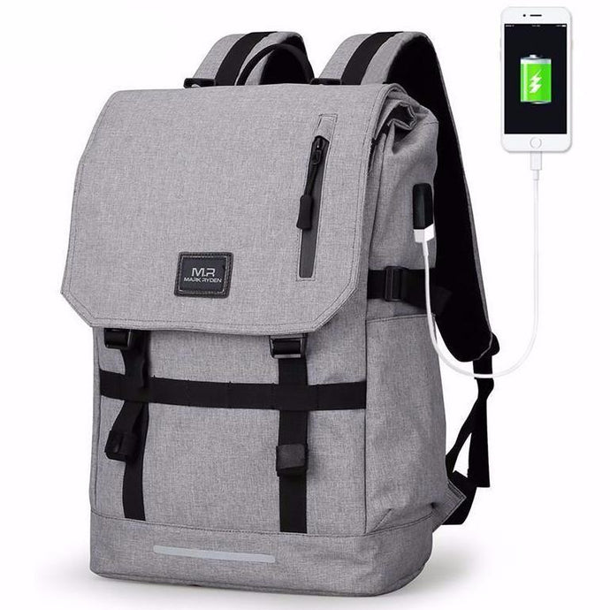 roll top backpack with classic design - front view