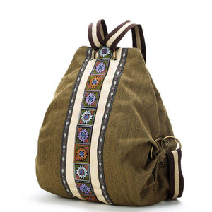 ethnic bag with embroidery - front view
