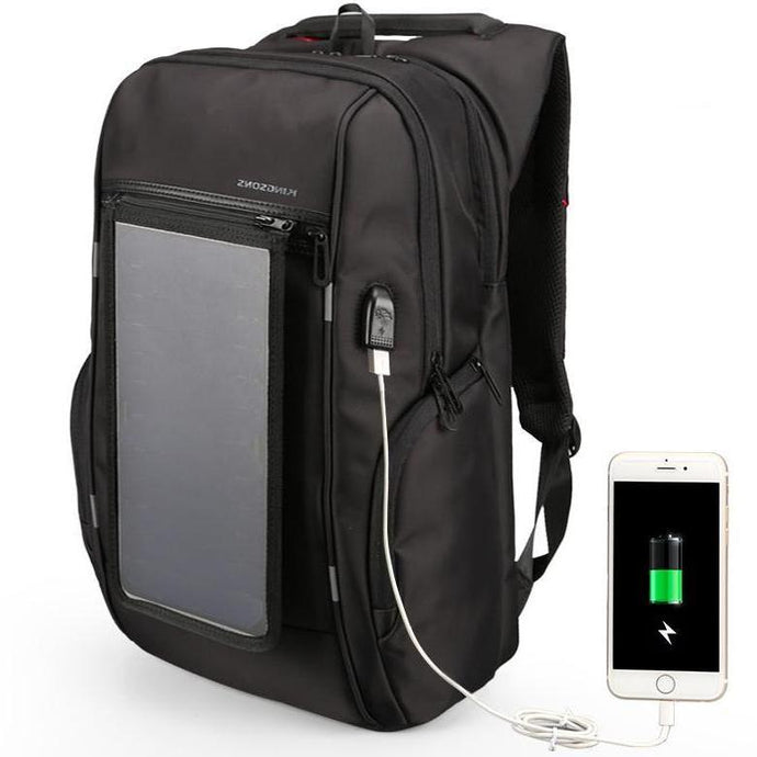 solar panel backpack with usb charging port