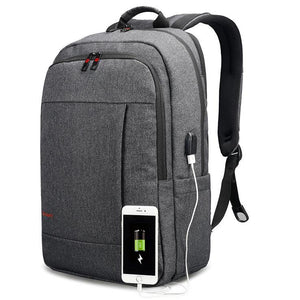 Business Laptop Backpack with USB Charger port & Waterproof fabric