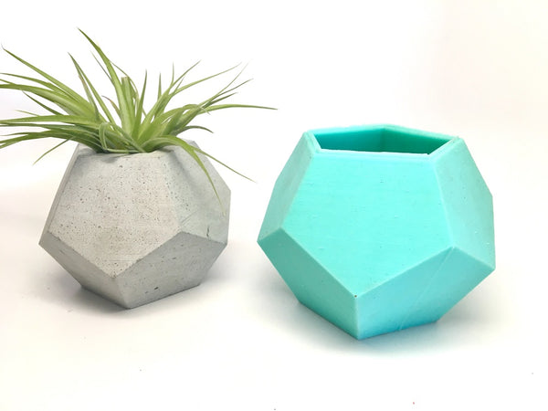 Dodecahedron Planter Mold - Silicone - Sacred Geometry