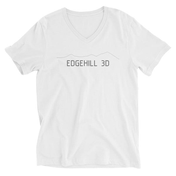 Edgehill 3D - Unisex Short Sleeve V-Neck T-Shirt