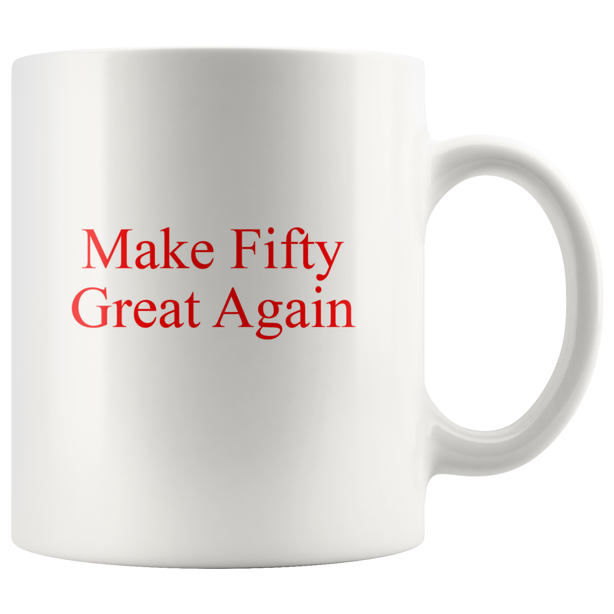 50th Birthday Gift Idea Coffee Mug For Men Women Turning Fifty Over The Hill 50 Gag