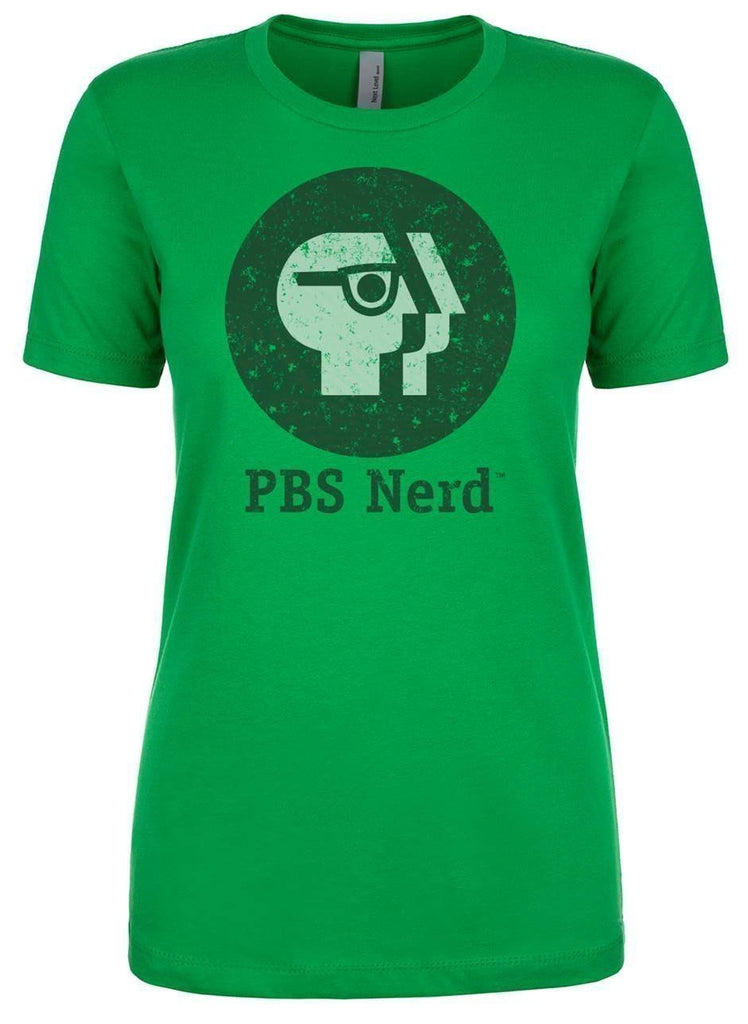 Ladies' Green PBS Nerd Short Sleeve T-Shirt