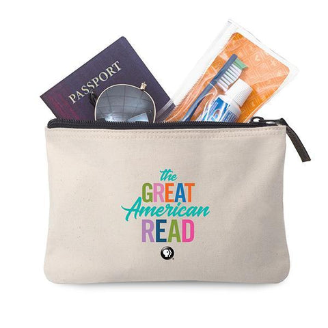 The Great American Read Cotton Zip Pouch