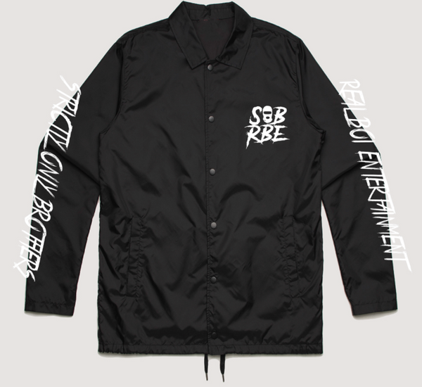 LOGO COACHES JACKET - BLACK