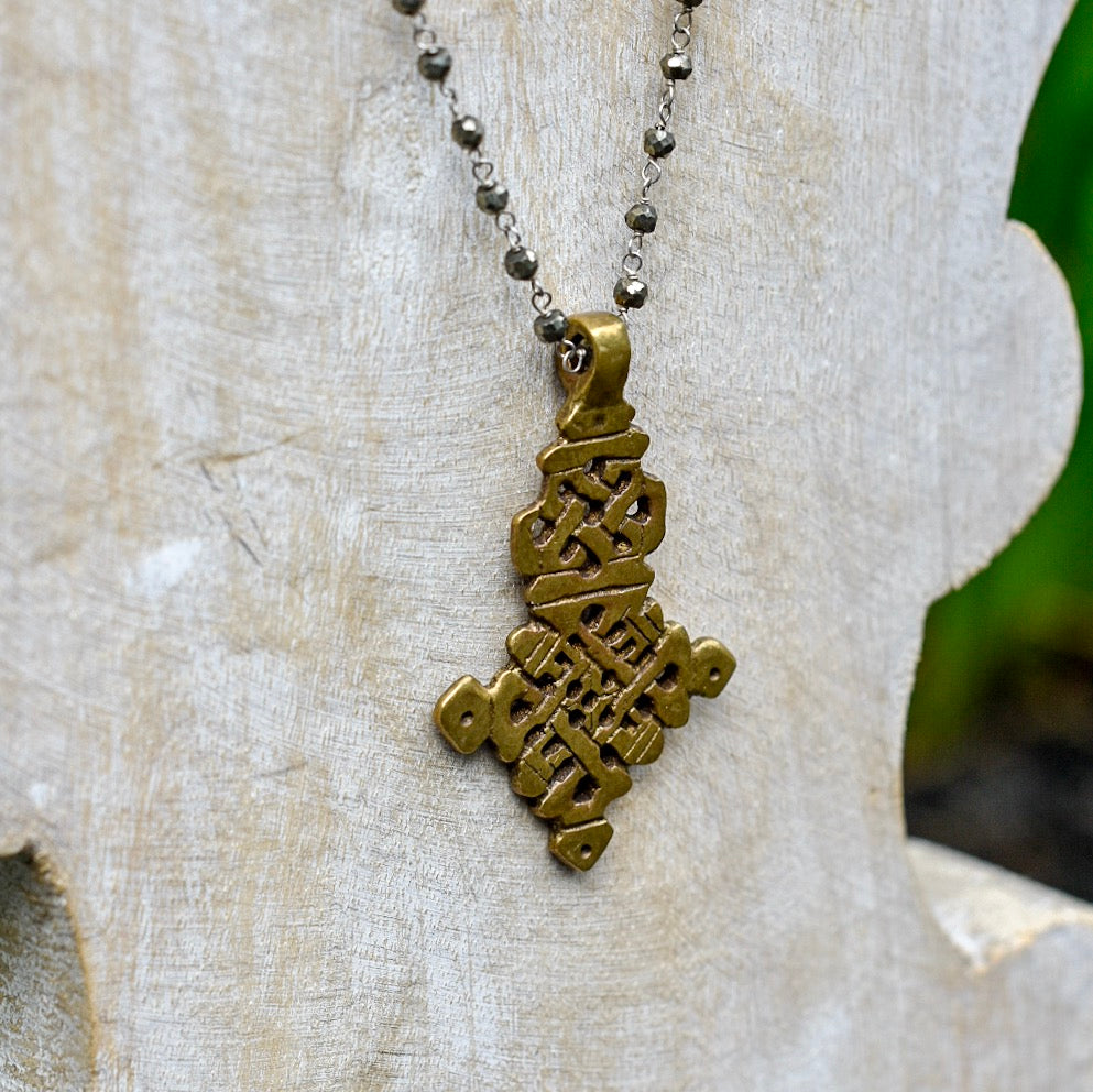Coptic Cross Necklace - D