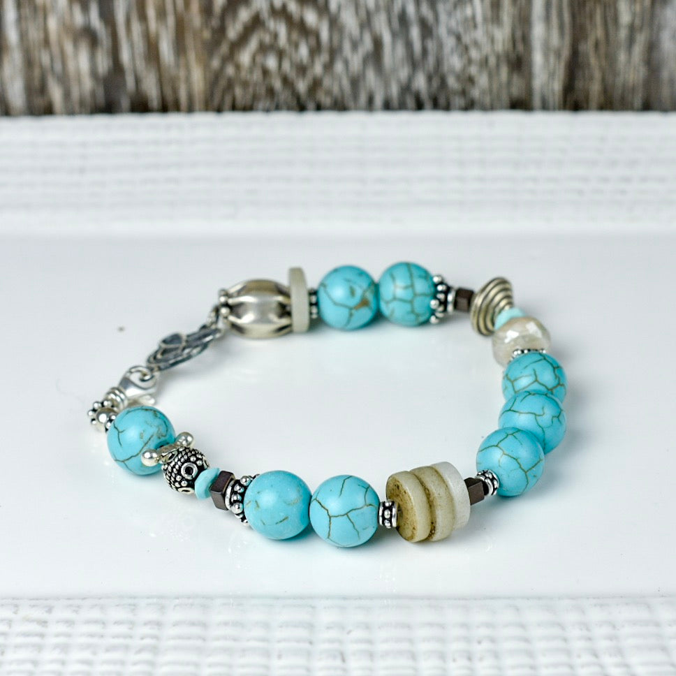 Veined Blue Stone Bracelet