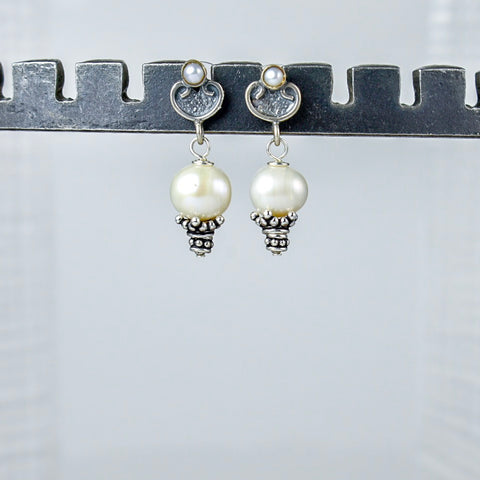 Freshwater Pearls on Sliver and Pearl Posts