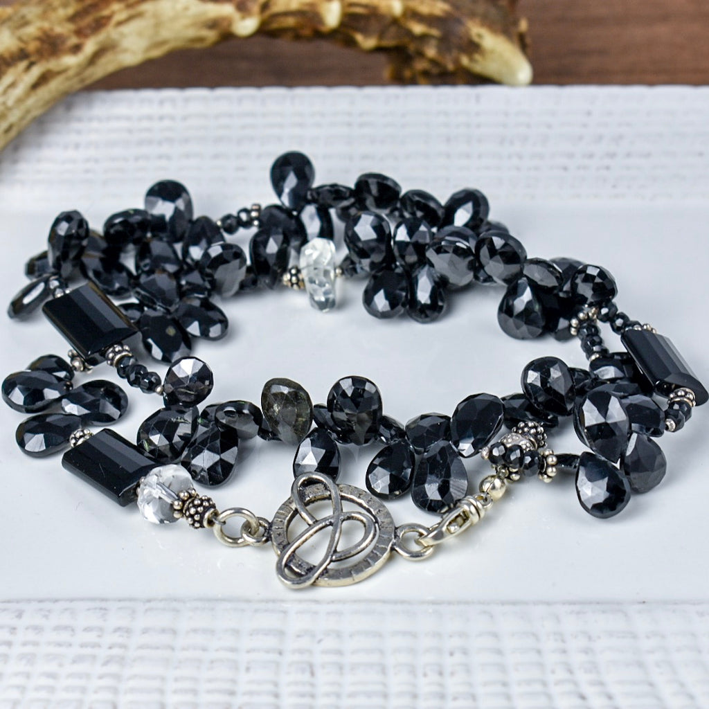 Black Spinel with Crystal