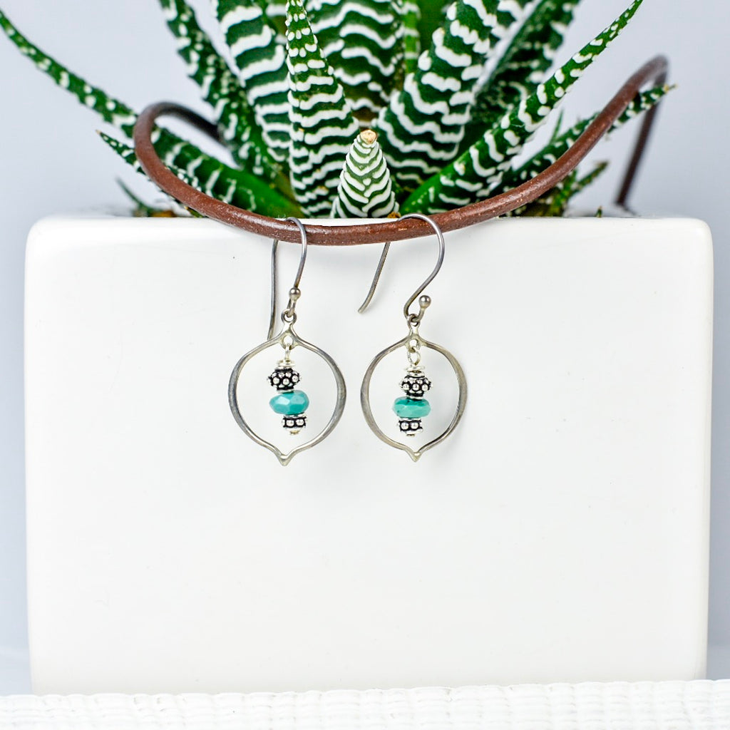 Turquoise Arabesque Earrings