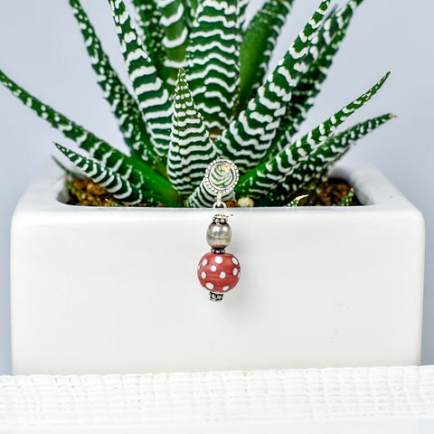 Red Dotted Pendant
