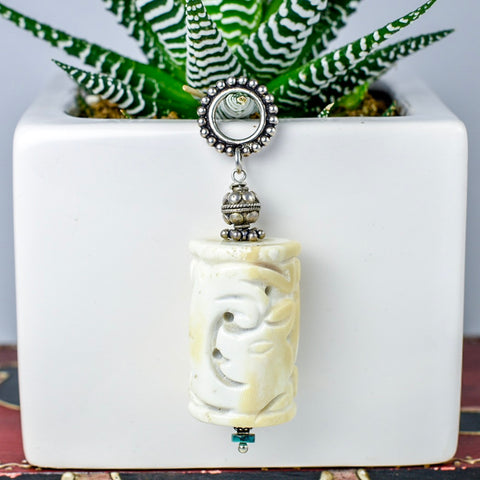 Carved Jade Drop