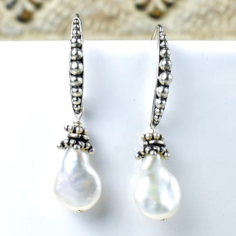Pearl Shape Fresh Water Pearl Earrings