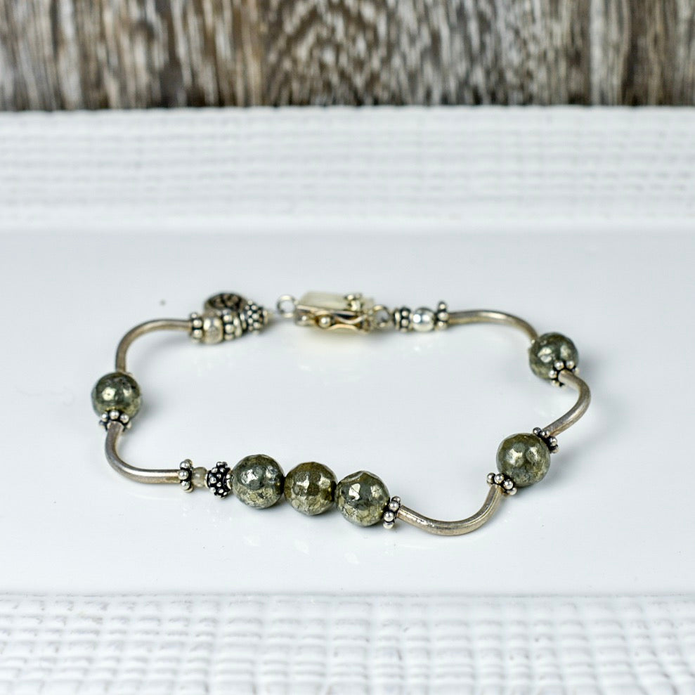 Pyrite & Curly Thai Bracelet